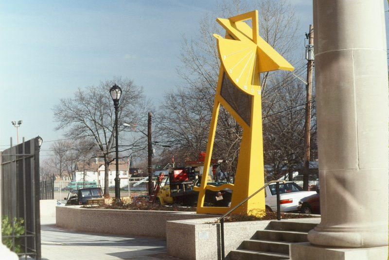 Yellow Sundial – Port Richmond High School, Staten Island, New York