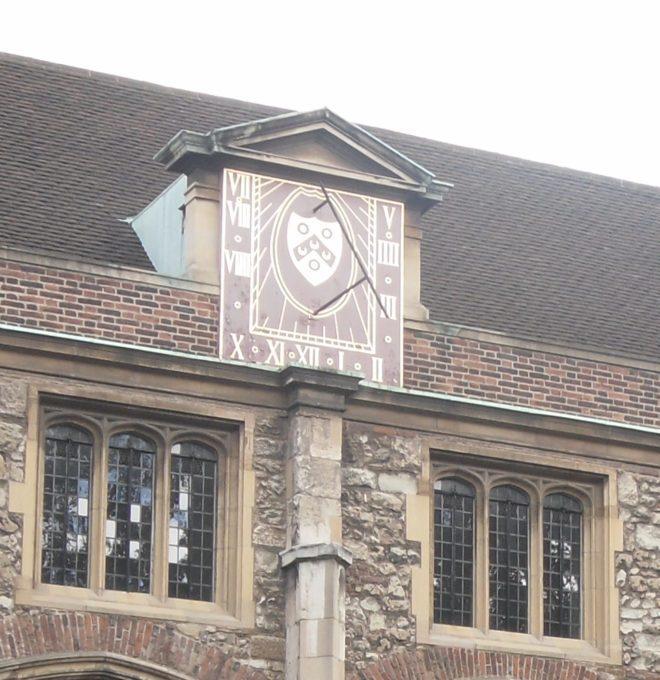 Vertical Sundial at The Charter House, London Border Sundials