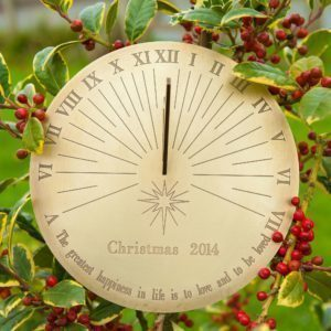Give the Gift of Time this Christmas Border Sundials