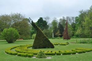 The living floral sundial at Easton Lodge, Essex, UK Border Sundials