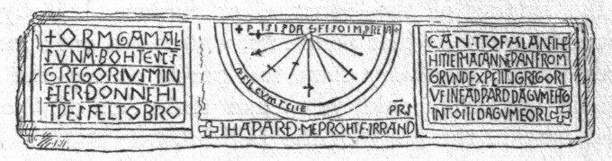 The Kirkdale Sundial, Kirkdale, North Yorkshire Border Sundials