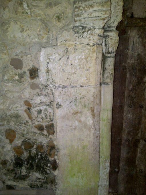 Incised Sundials at Mersham Church, Kent Border Sundials