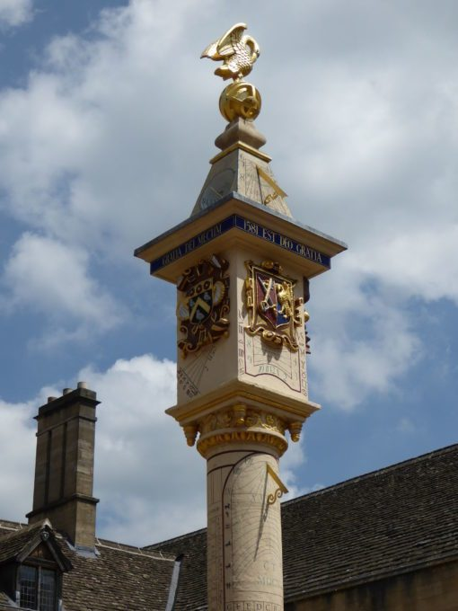 Sundial at Corpus Christi College, Oxford Border Sundials