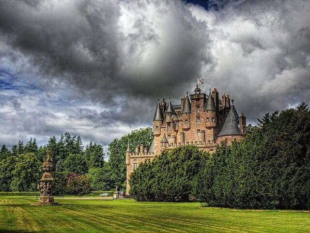 November's sundial of the month is at Glamis Castle, Forfarshire in Scotland. Border Sundials