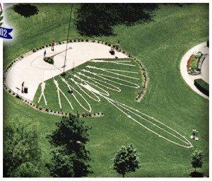 The 'World's Greatest' Sundial, The Pekin Sundial, Mineral Springs Park, Illinois Border Sundials