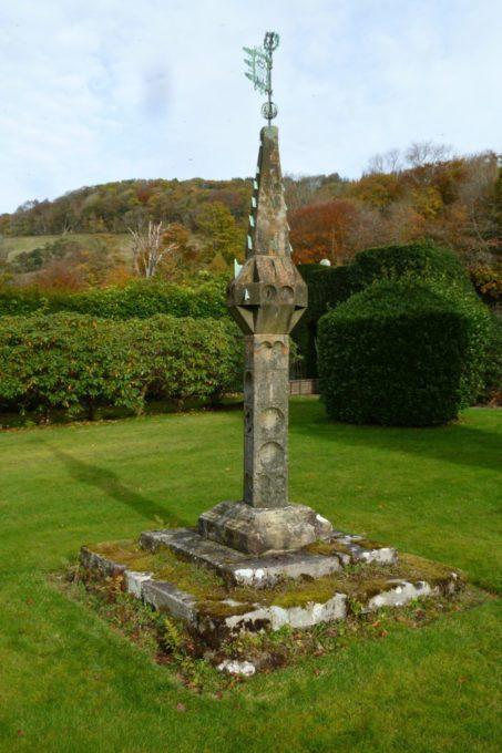 Sundial at Kelburn Castle Near Fairlie Border Sundials