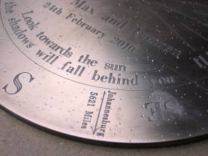 The perfect wedding gift Border Sundials
