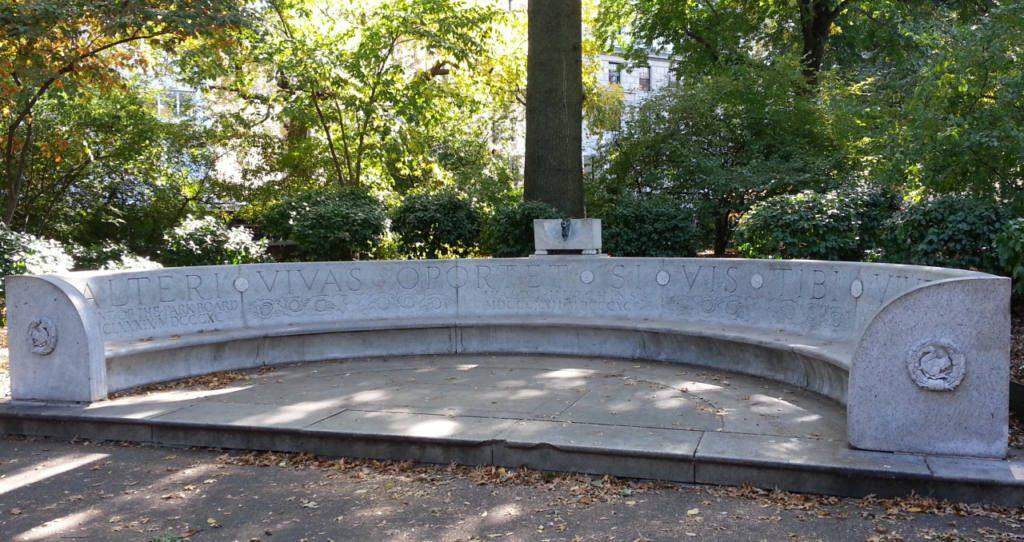 Waldo Hutchins Bench Sundial, New York, USA Border Sundials