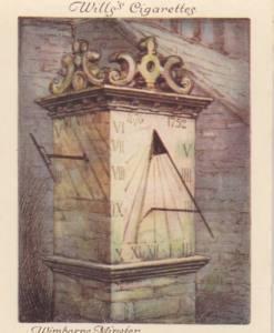 Sundial at Wimborne Minster Border Sundials